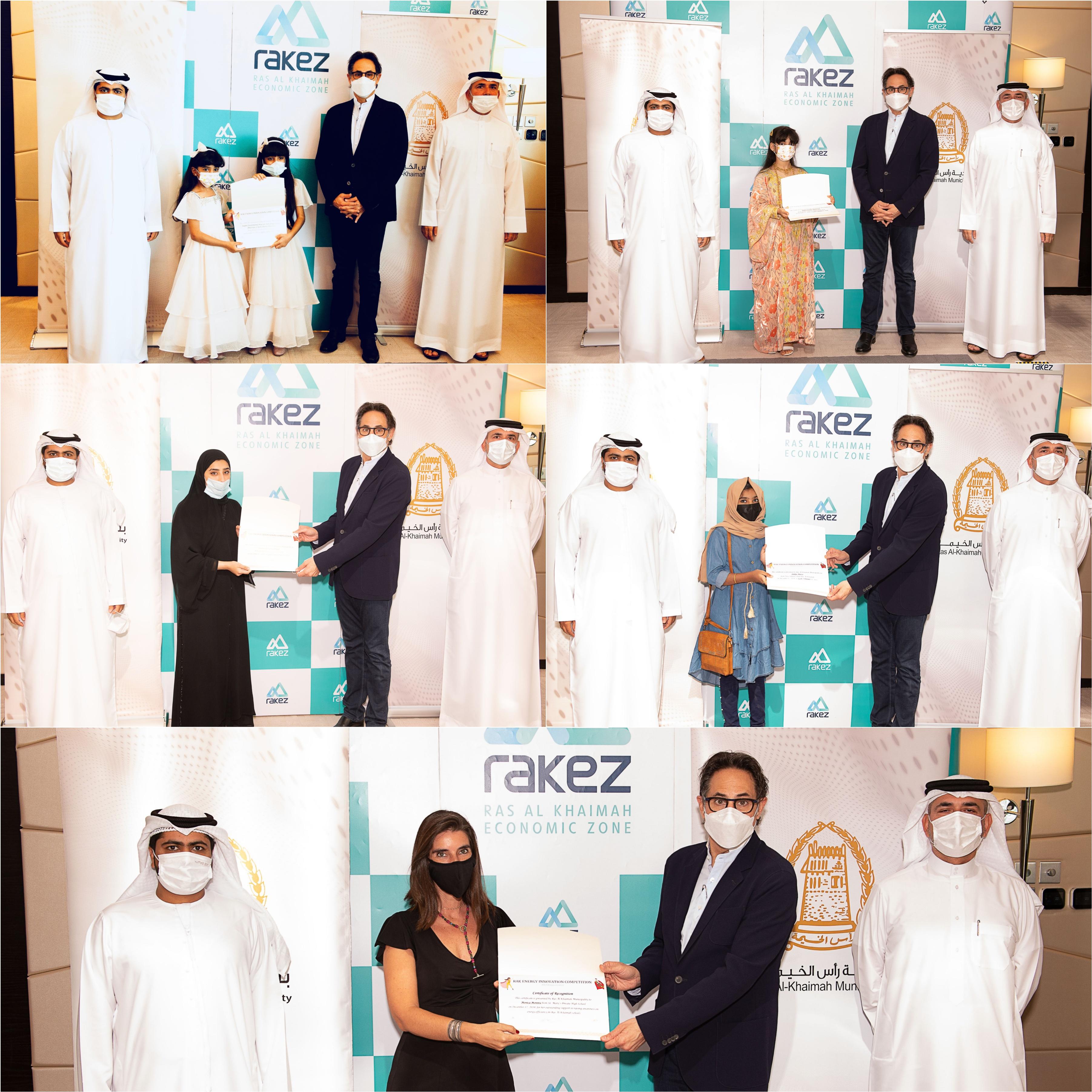 Ras Al Khaimah Municipality and Ras Al Khaimah Economic Zone (RAKEZ) awarded the winners of RAK Energy Innovation Competition (School Edition).